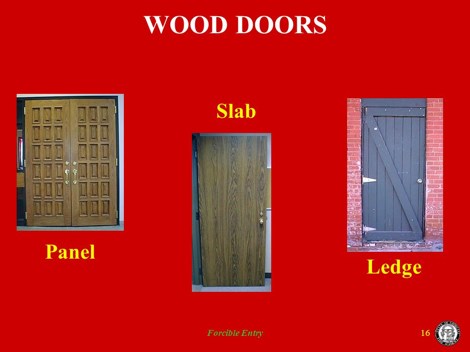 WOOD DOORS Panel Slab Ledge Forcible Entry