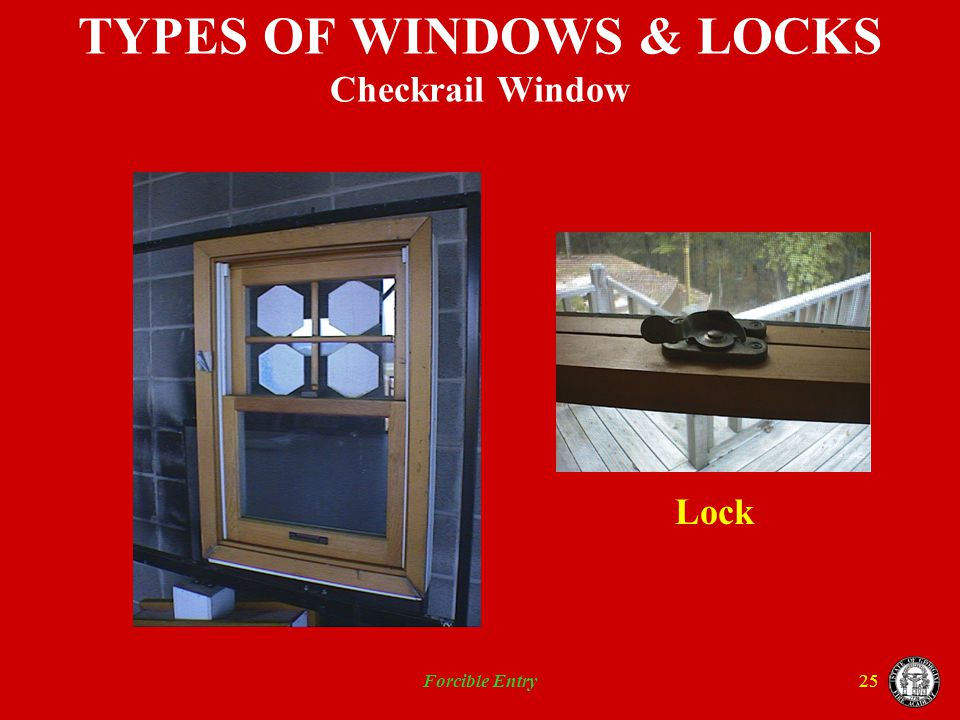 TYPES OF WINDOWS & LOCKS Checkrail Window