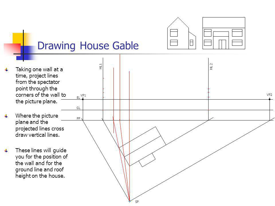 Drawing House Gable VP1. VP2. EL. GL. PP. SP. HL 2. HL1.