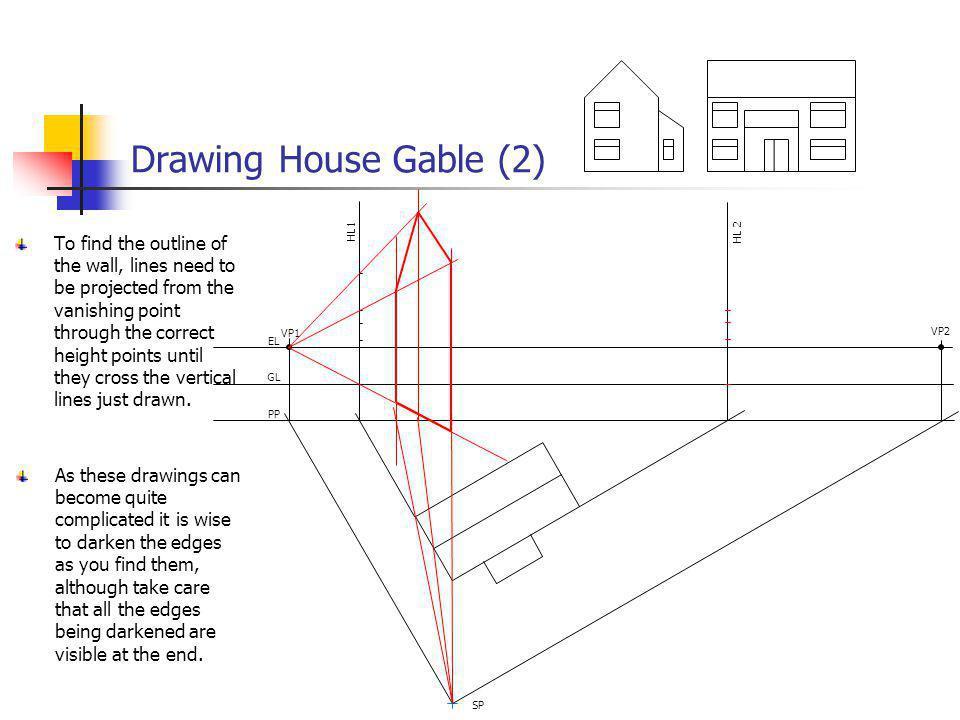 Drawing House Gable (2) VP1. VP2. EL. GL. PP. SP. HL 2. HL1.