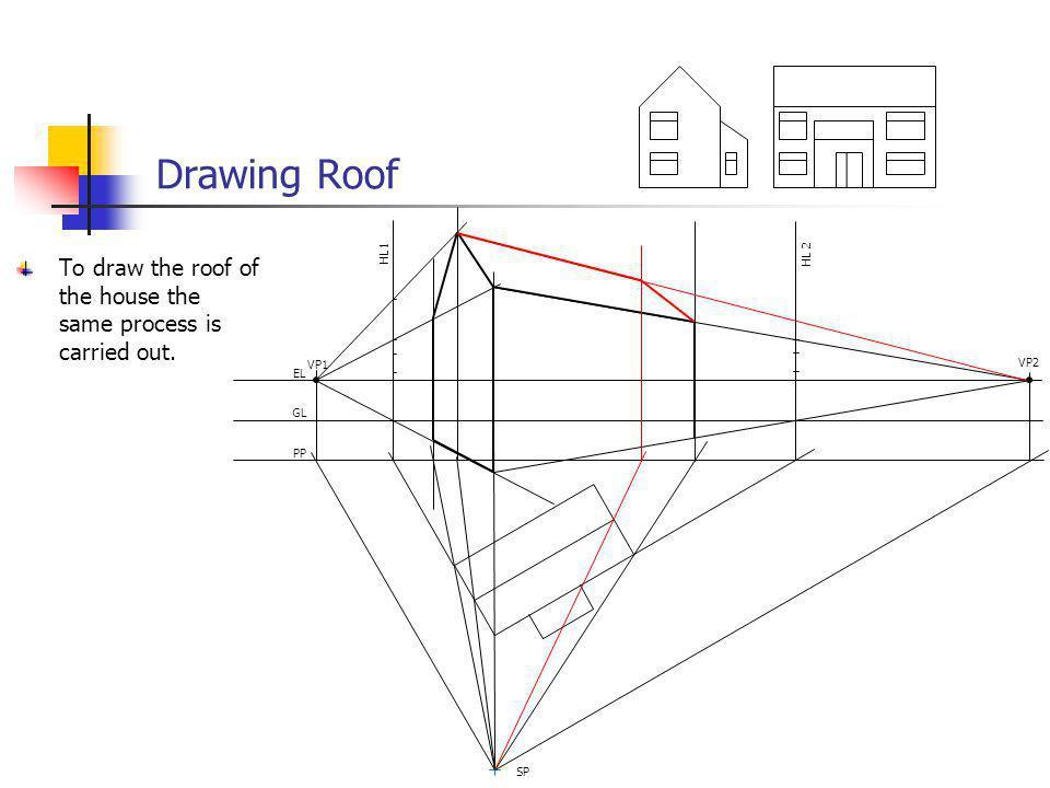 Drawing Roof VP1. VP2. EL. GL. PP. SP. HL 2.