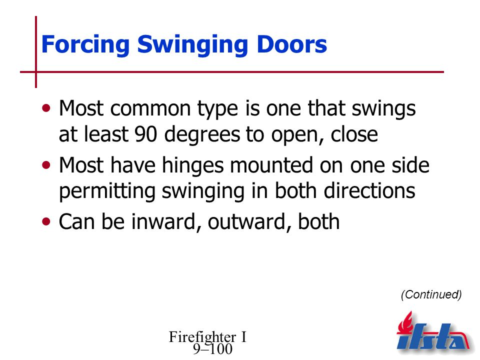 Forcing Swinging Doors