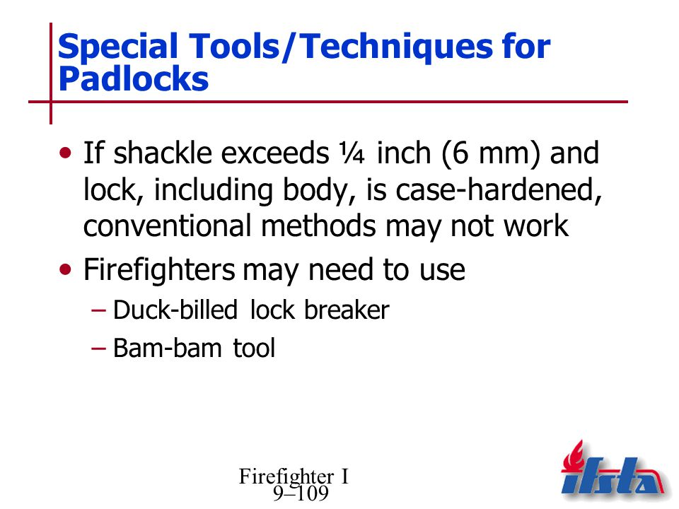Special Tools/Techniques for Padlocks