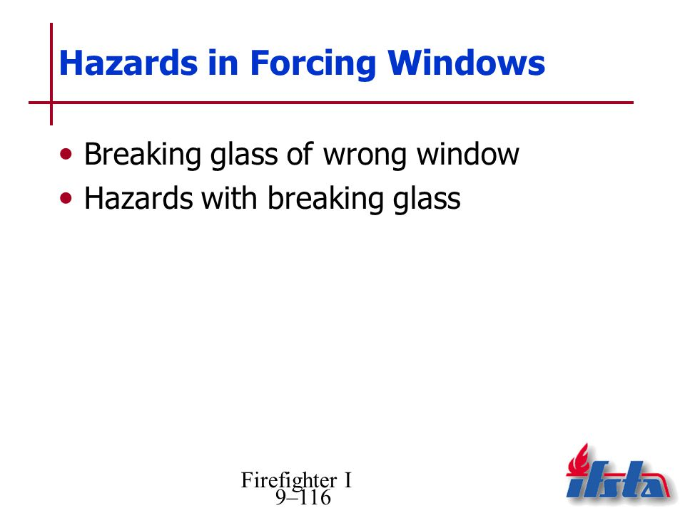 Hazards in Forcing Windows