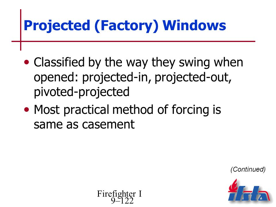 Projected (Factory) Windows