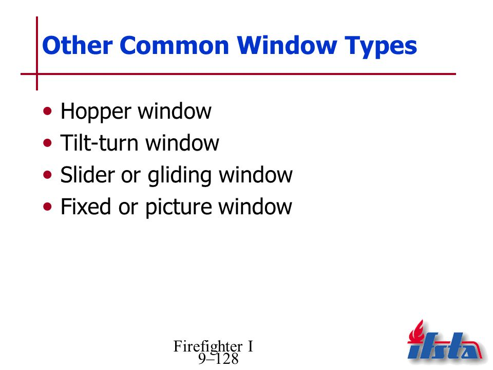 Other Common Window Types