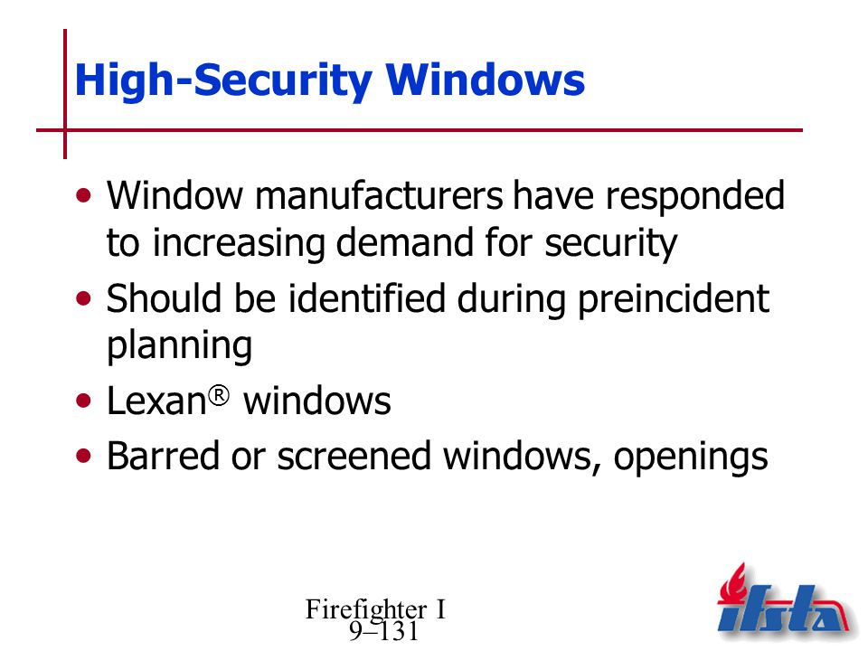 High-Security Windows