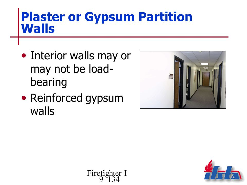 Plaster or Gypsum Partition Walls