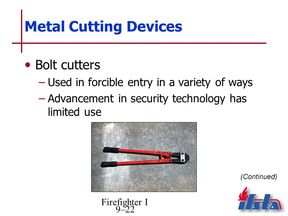 Metal Cutting Devices Bolt cutters