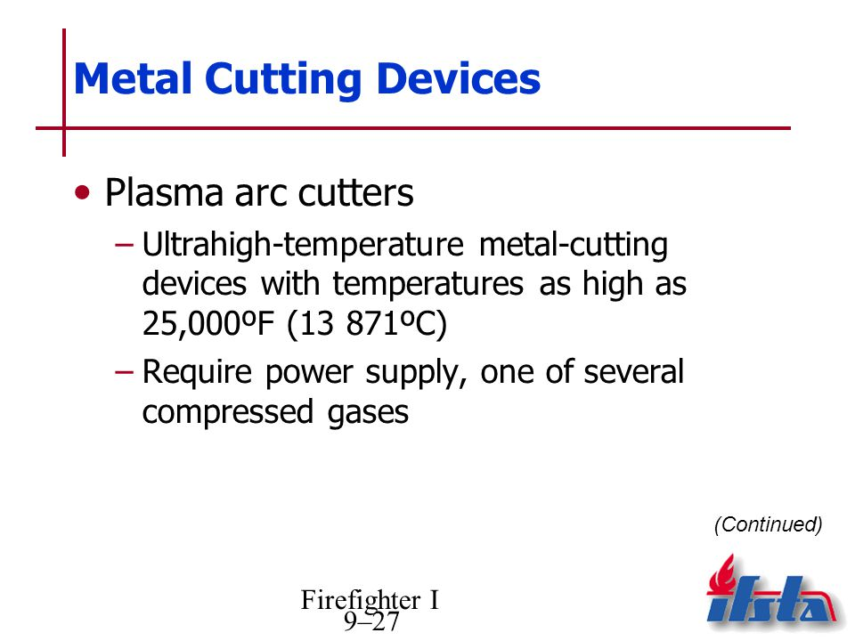 Metal Cutting Devices Plasma arc cutters