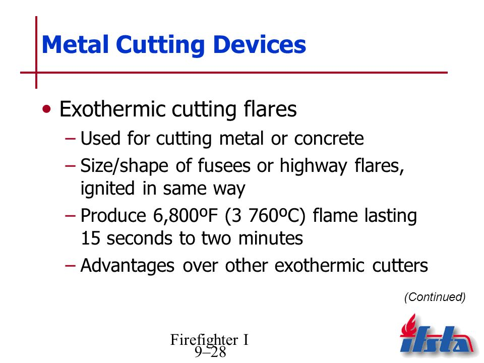 Metal Cutting Devices Exothermic cutting flares