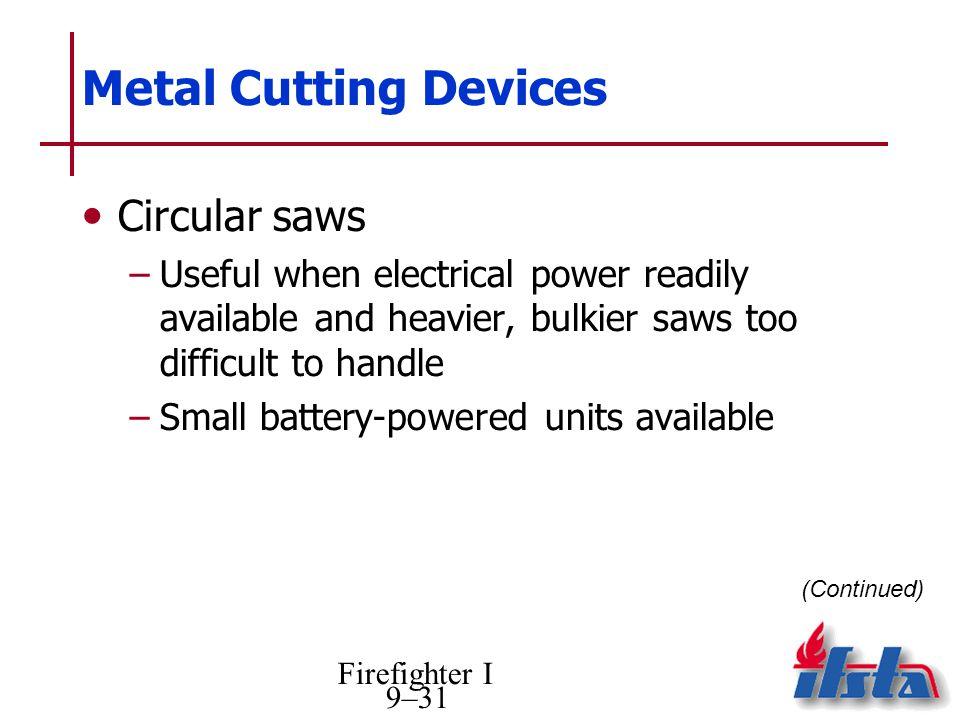 Metal Cutting Devices Circular saws