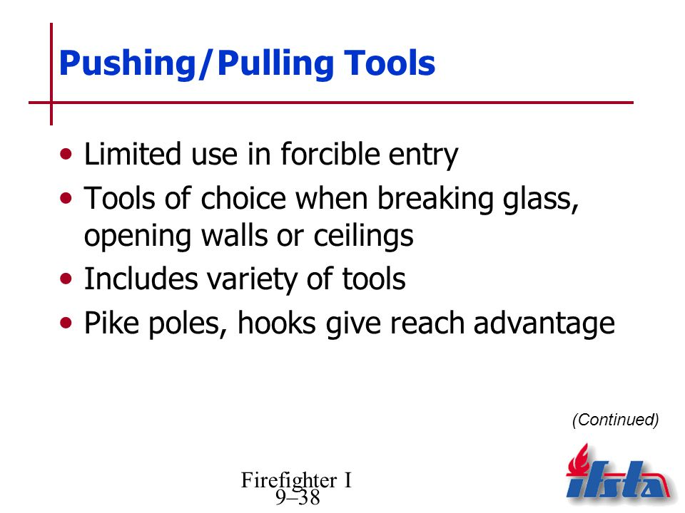 Pushing/Pulling Tools