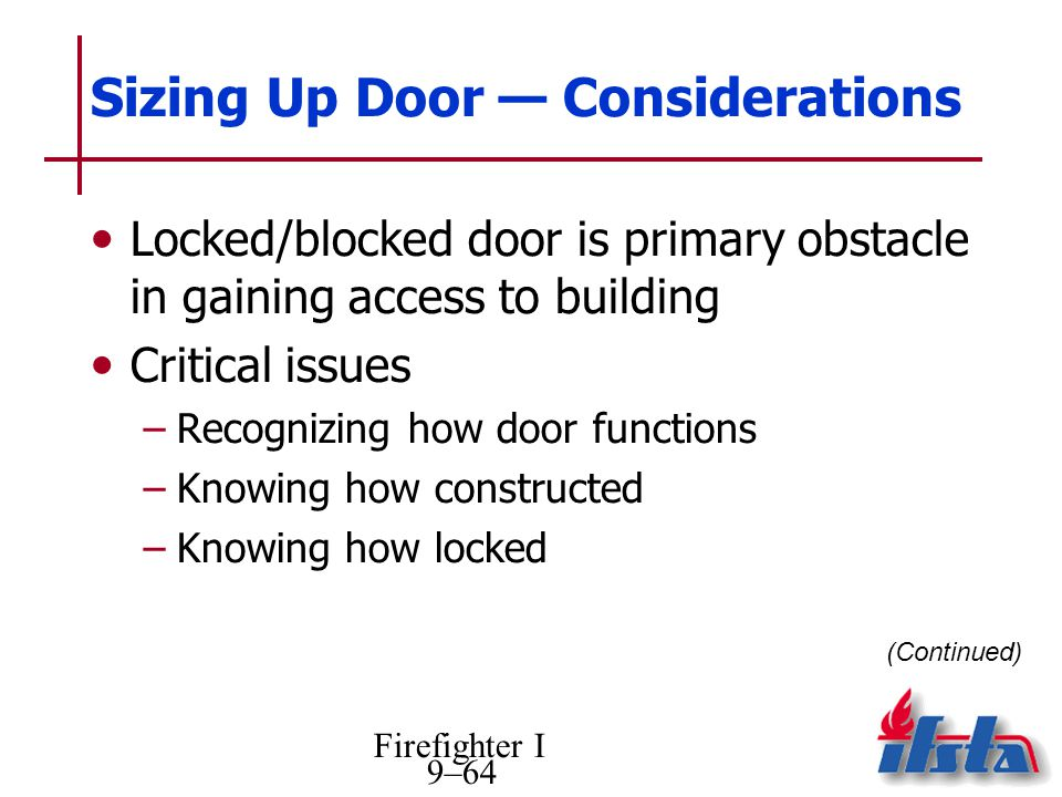 Sizing Up Door — Considerations
