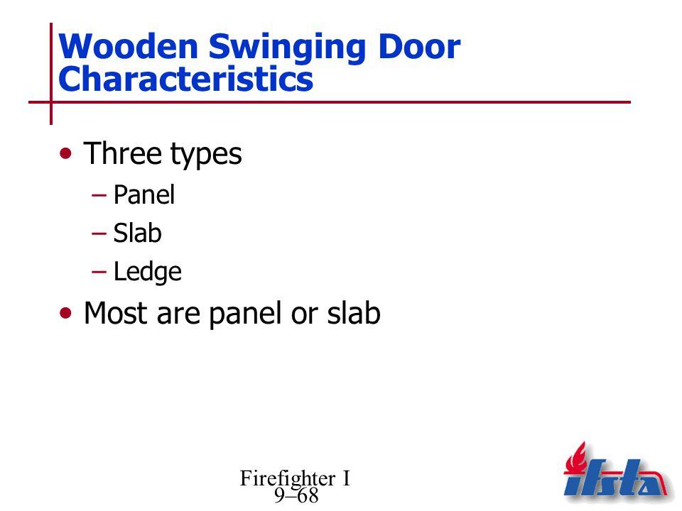 Wooden Swinging Door Characteristics