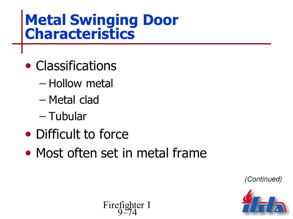 Metal Swinging Door Characteristics