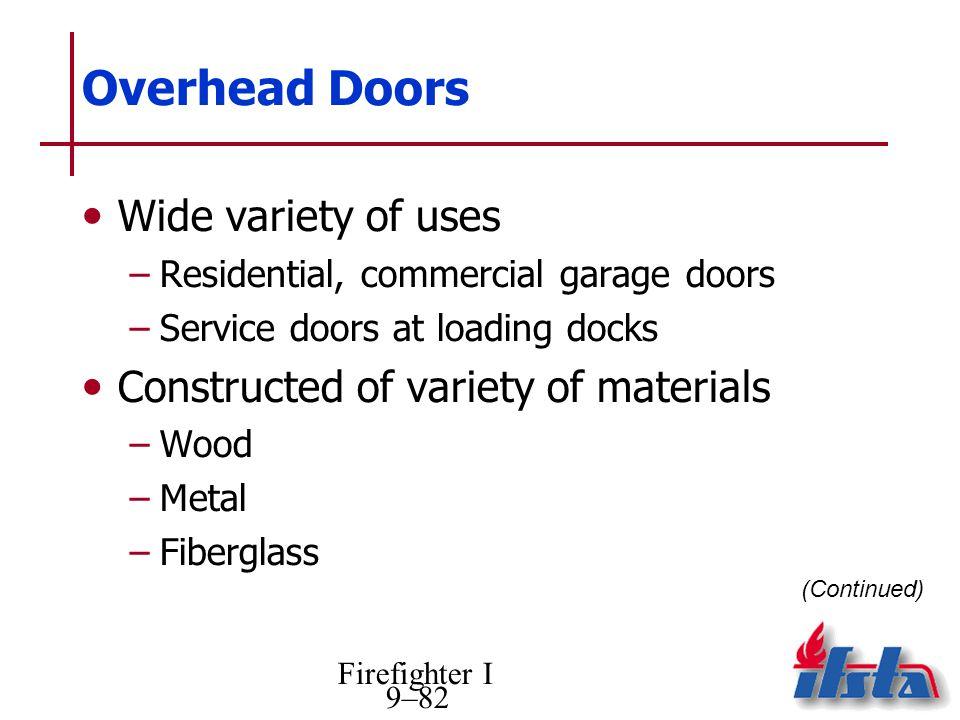 Overhead Doors Wide variety of uses