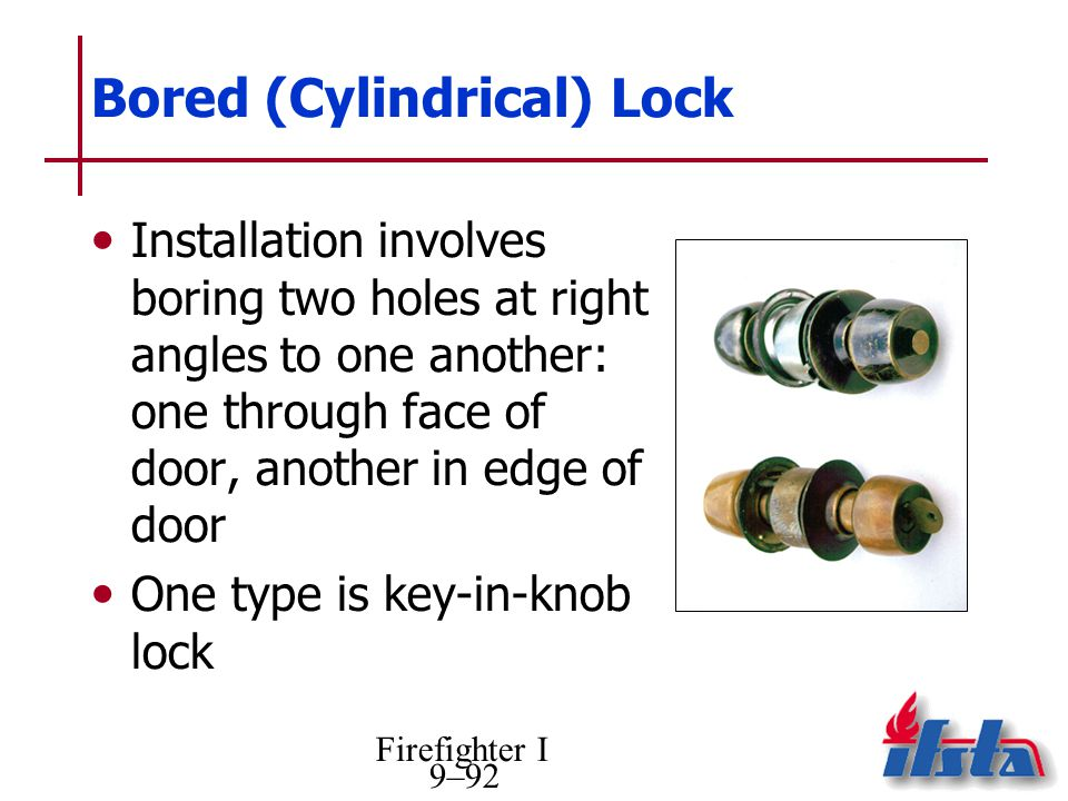 Bored (Cylindrical) Lock