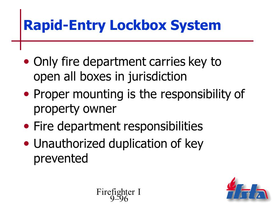 Rapid-Entry Lockbox System