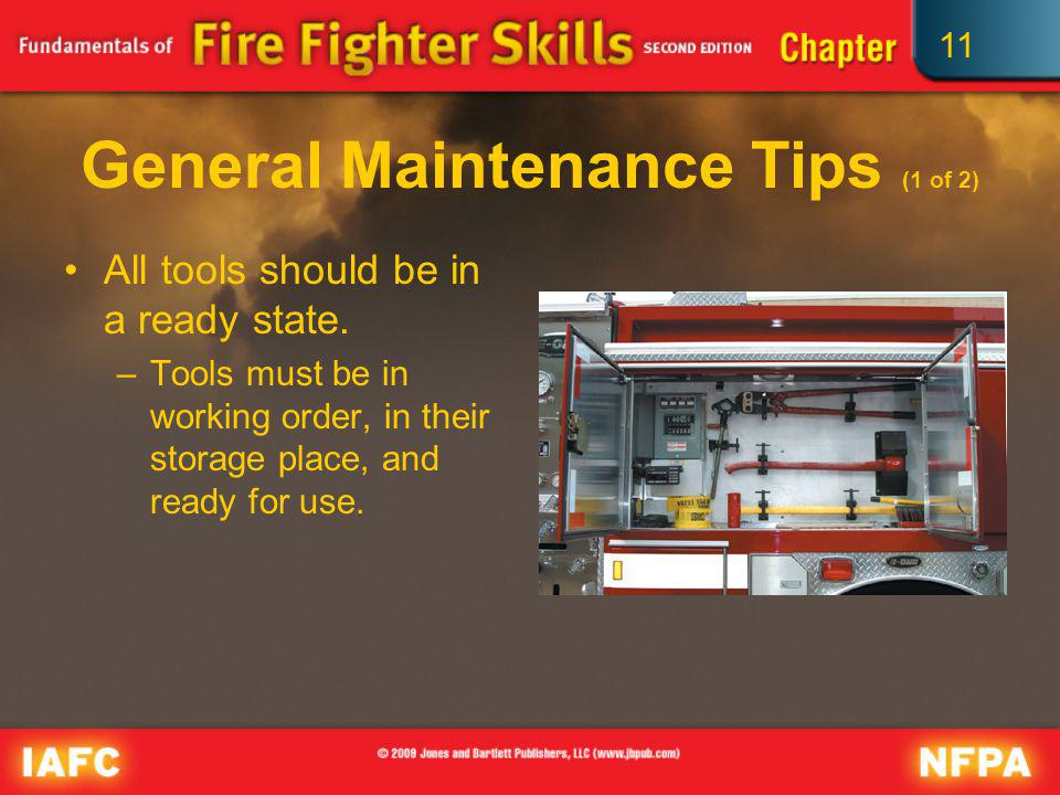 General Maintenance Tips (1 of 2)
