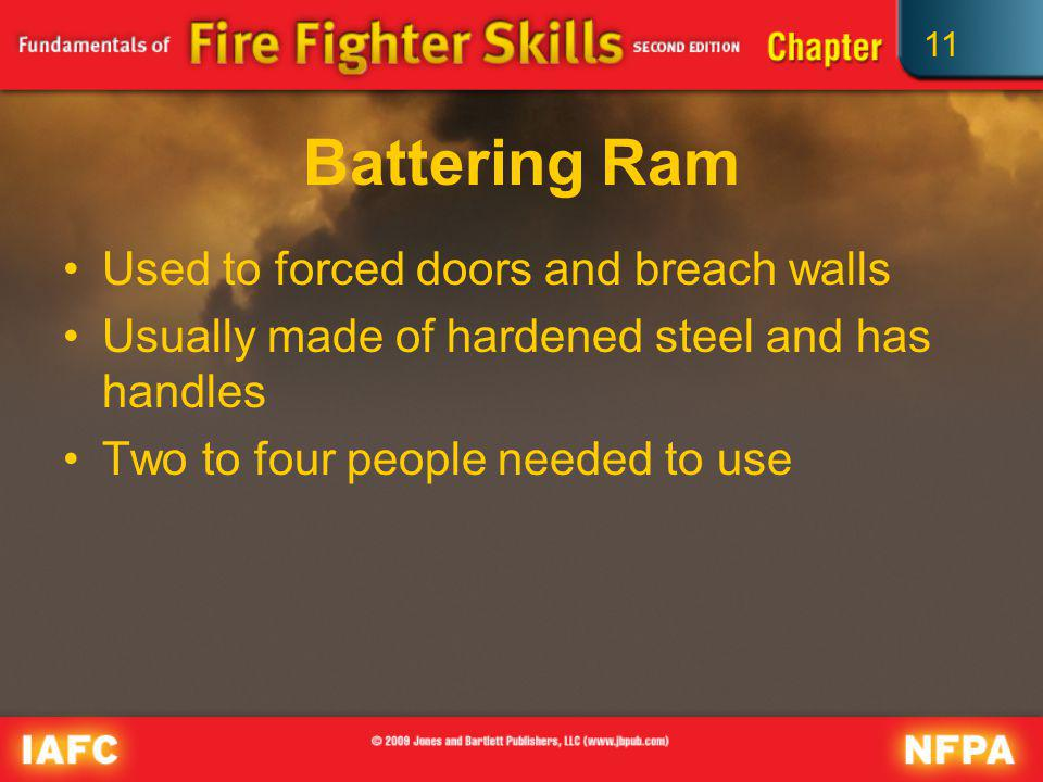 Battering Ram Used to forced doors and breach walls