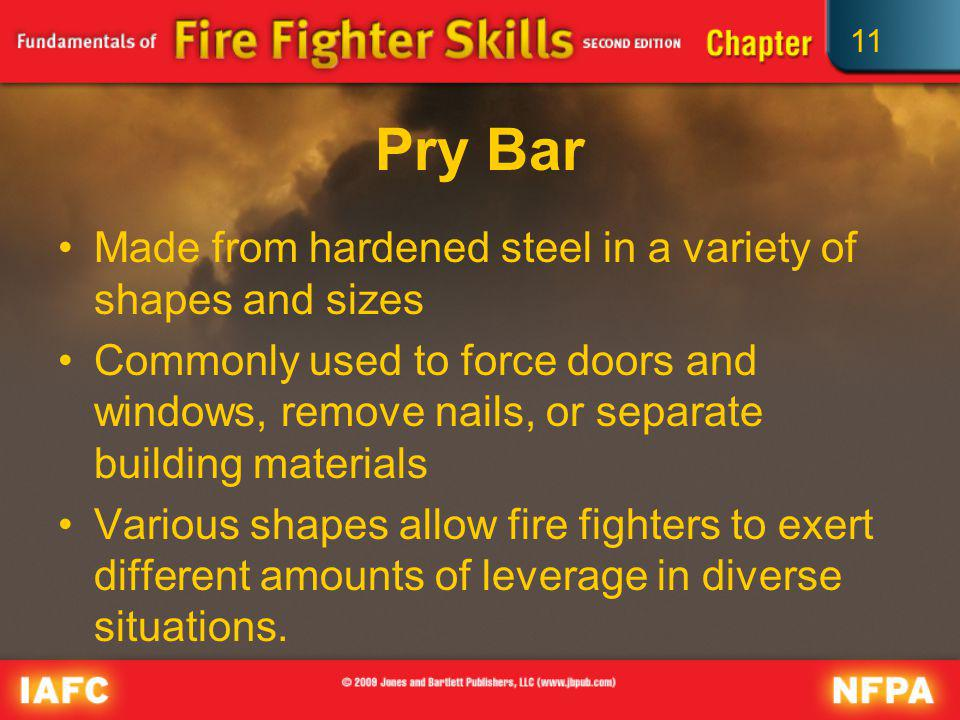 Pry Bar Made from hardened steel in a variety of shapes and sizes