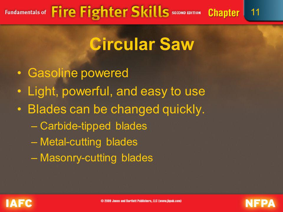 Circular Saw Gasoline powered Light, powerful, and easy to use