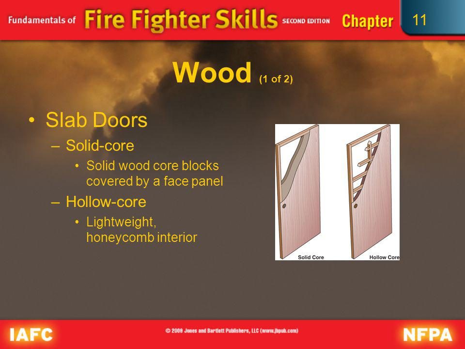 Wood (1 of 2) Slab Doors Solid-core Hollow-core