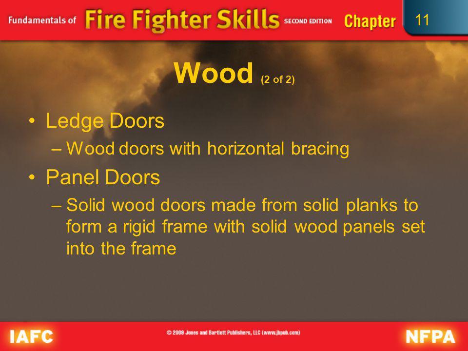 Wood (2 of 2) Ledge Doors Panel Doors