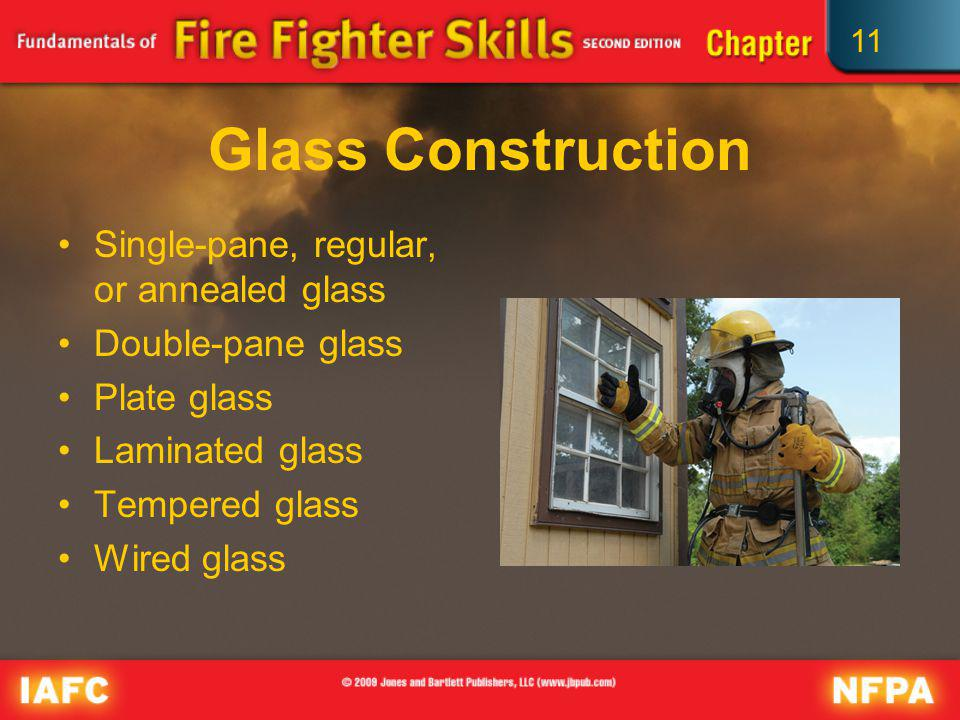 Glass Construction Single-pane, regular, or annealed glass