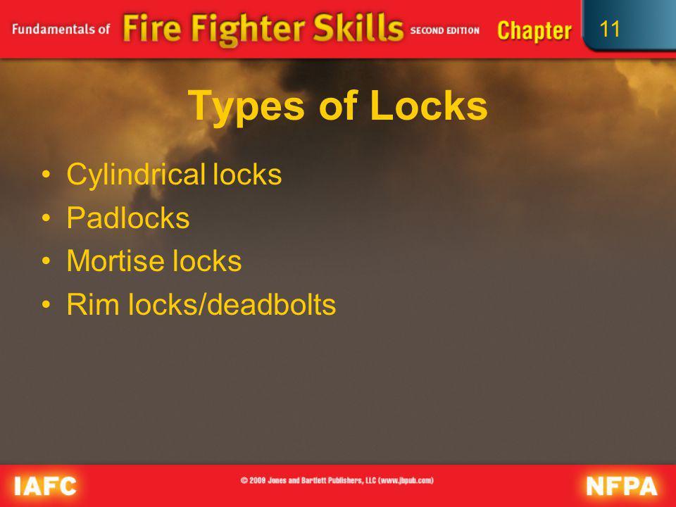 Types of Locks Cylindrical locks Padlocks Mortise locks