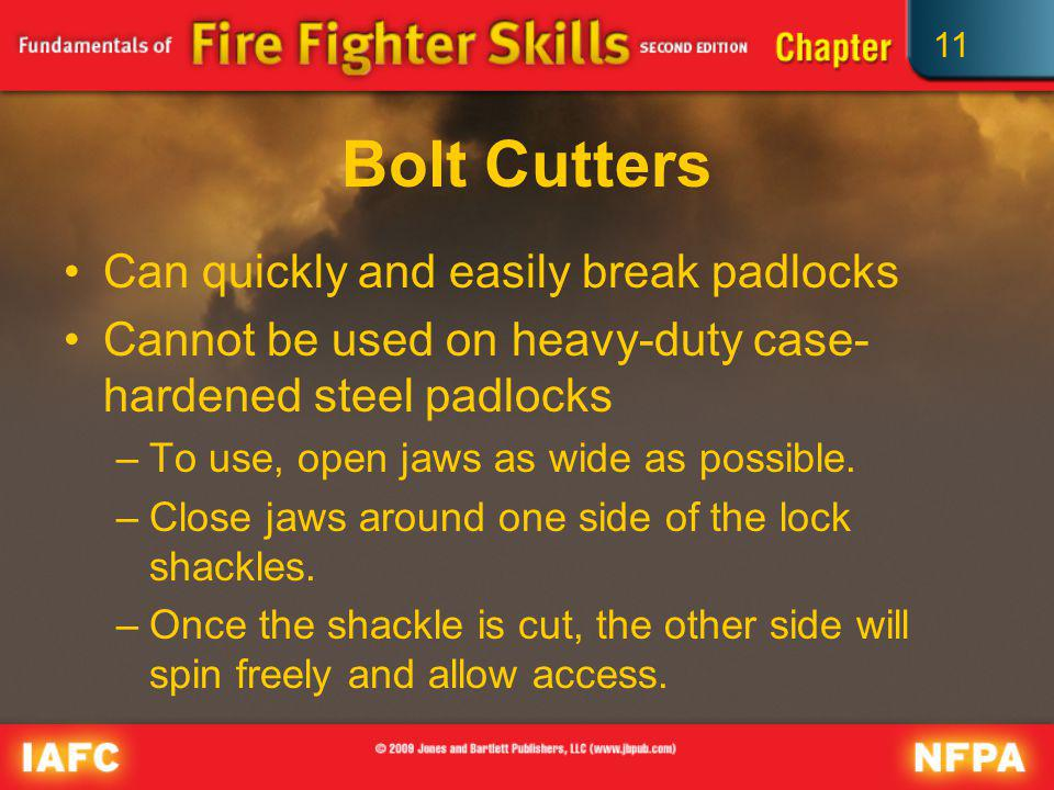 Bolt Cutters Can quickly and easily break padlocks