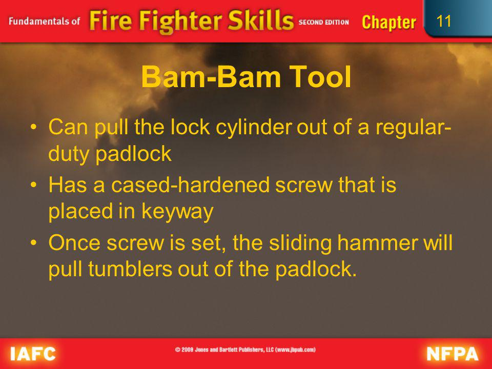 Bam-Bam Tool Can pull the lock cylinder out of a regular-duty padlock
