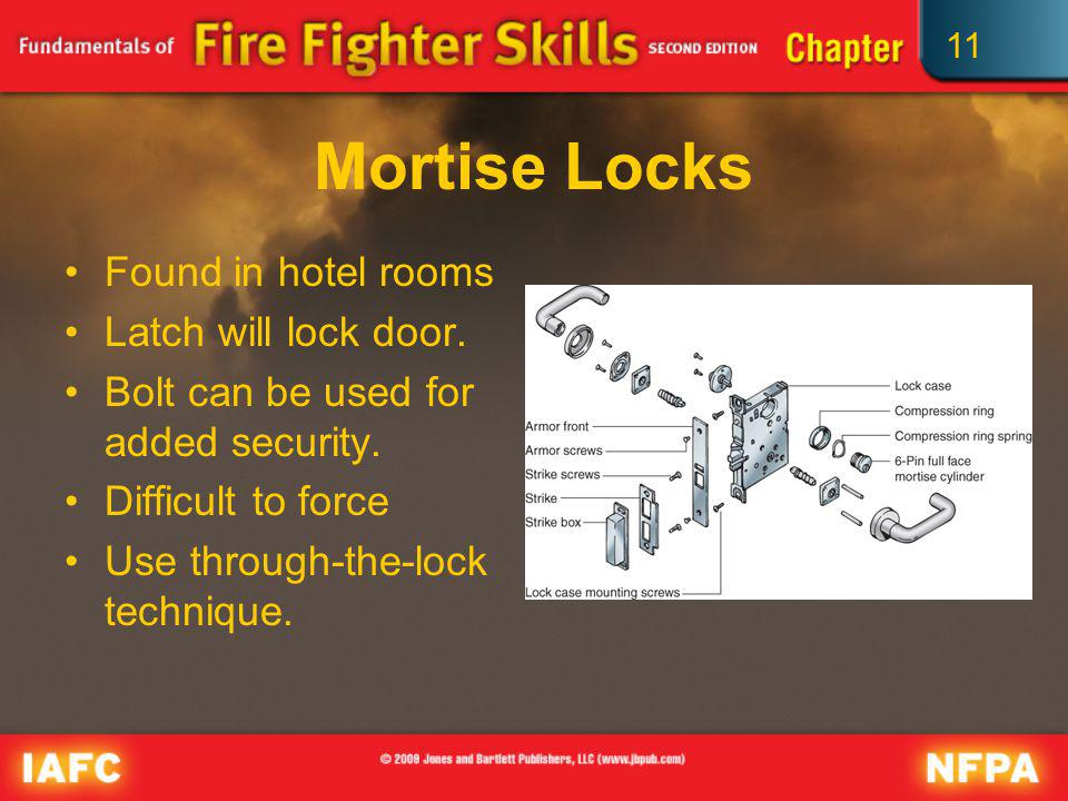 Mortise Locks Found in hotel rooms Latch will lock door.