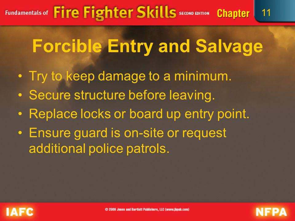 Forcible Entry and Salvage