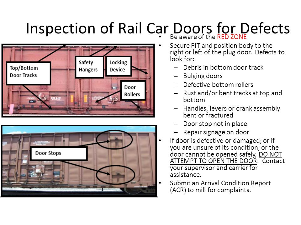 Inspection of Rail Car Doors for Defects