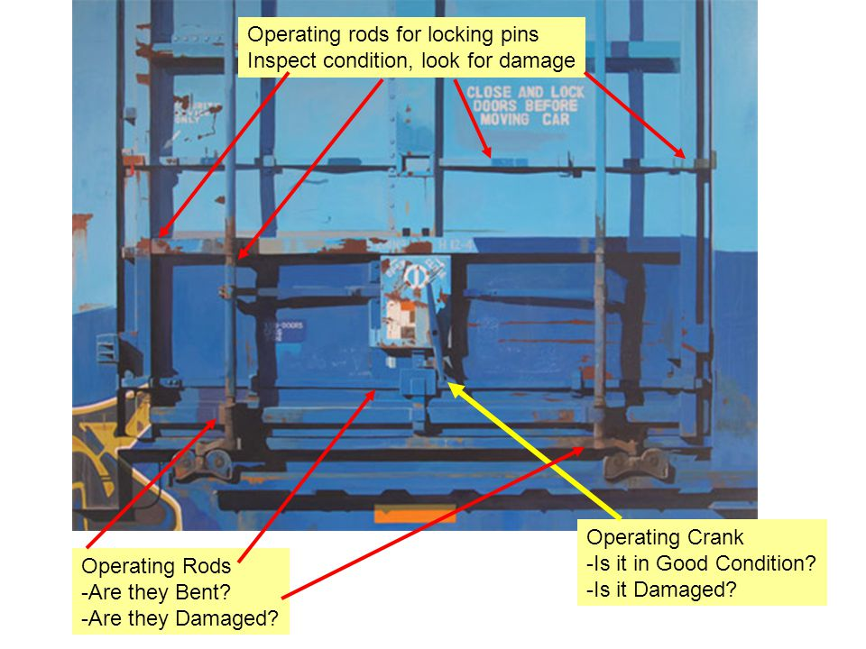 Operating rods for locking pins