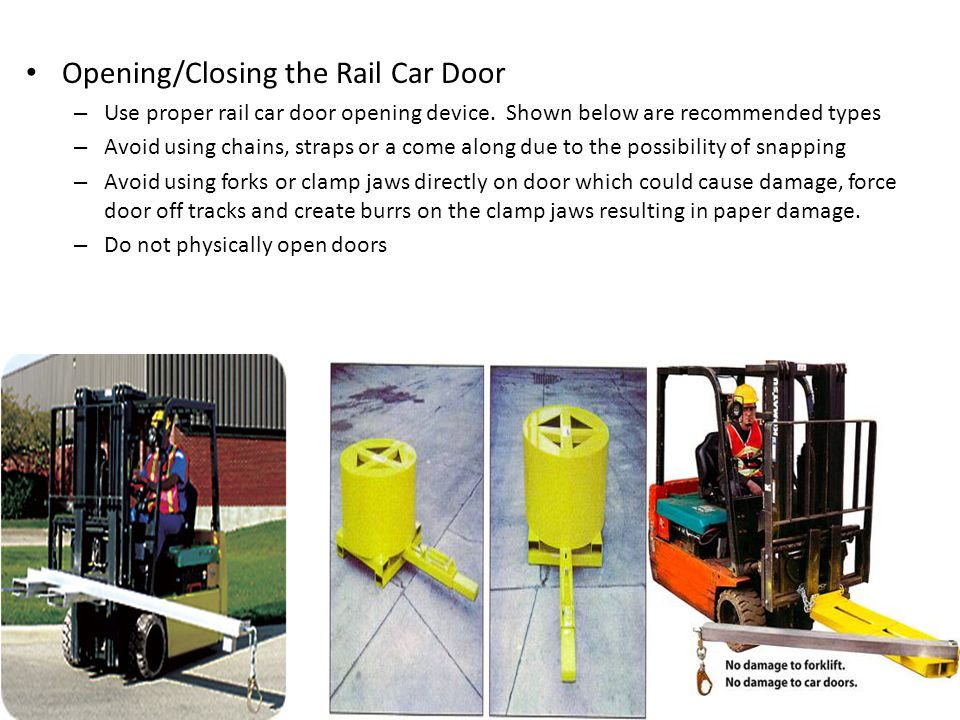 Opening/Closing the Rail Car Door