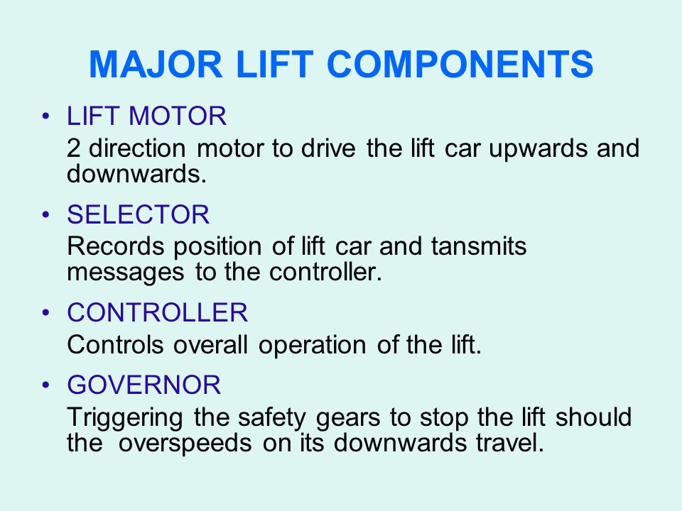 MAJOR LIFT COMPONENTS LIFT MOTOR