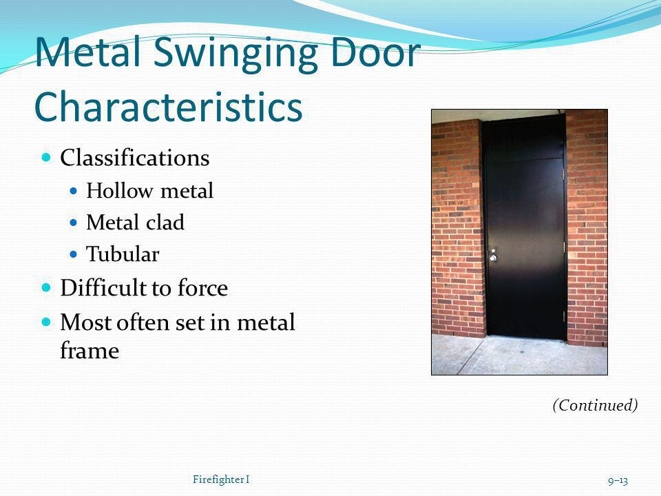 Metal Swinging Door Characteristics