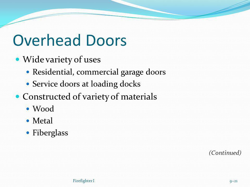 Overhead Doors Wide variety of uses