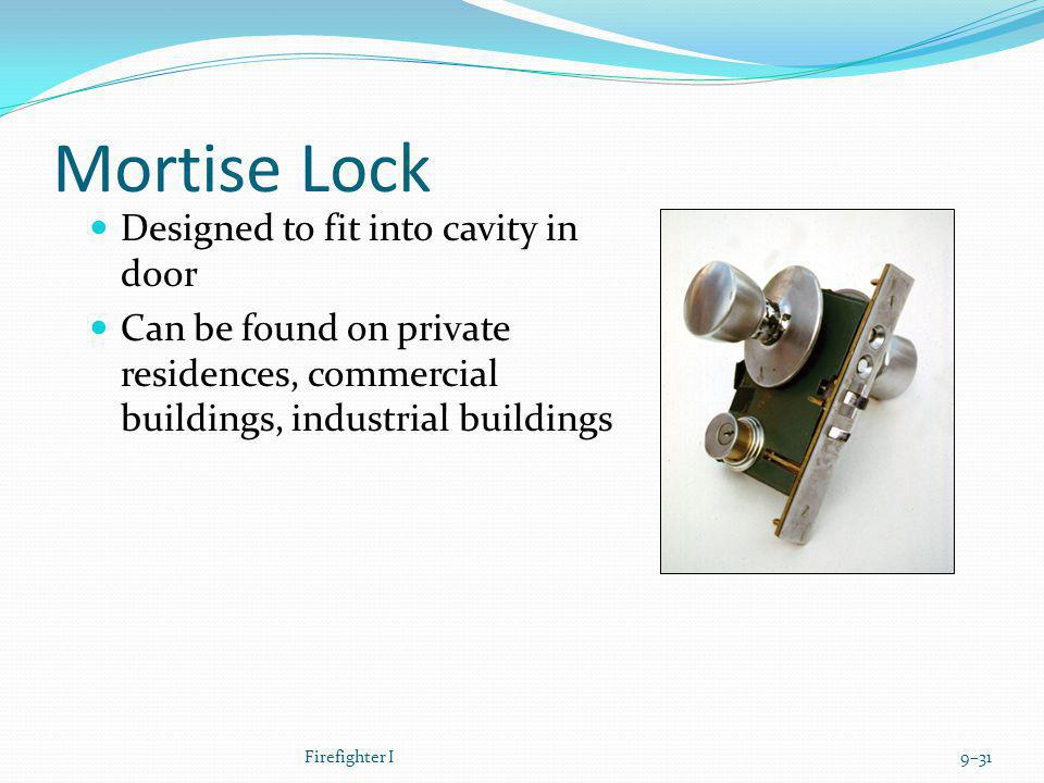 Mortise Lock Designed to fit into cavity in door
