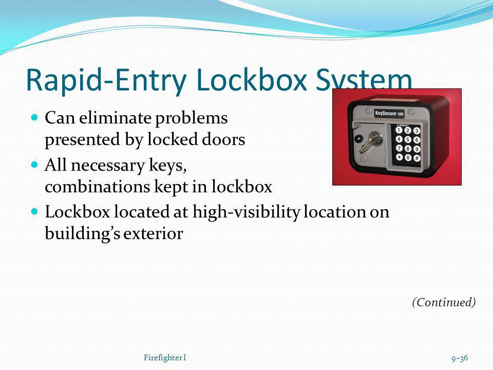 Rapid-Entry Lockbox System