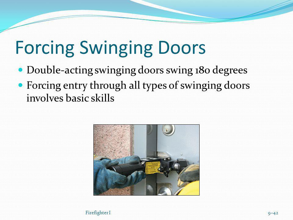 Forcing Swinging Doors