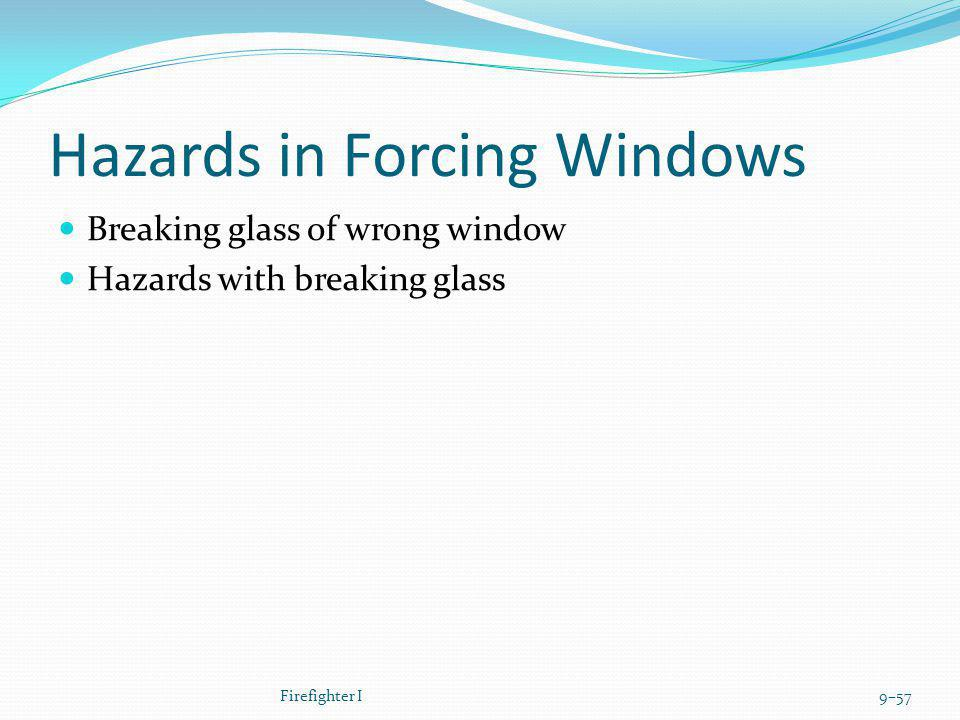 Hazards in Forcing Windows