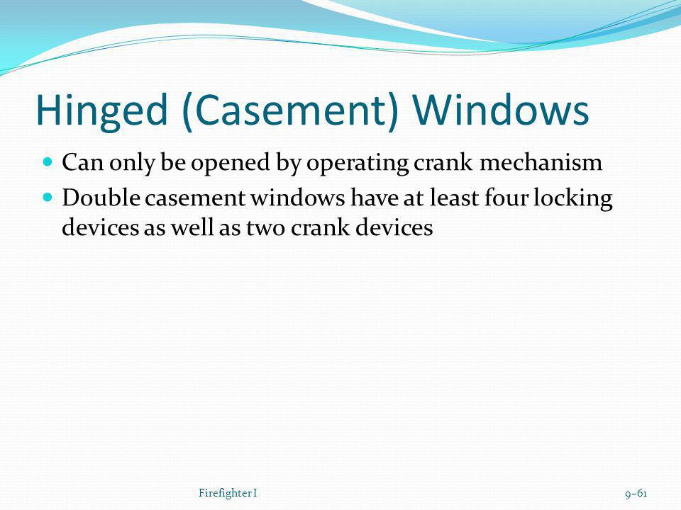 Hinged (Casement) Windows