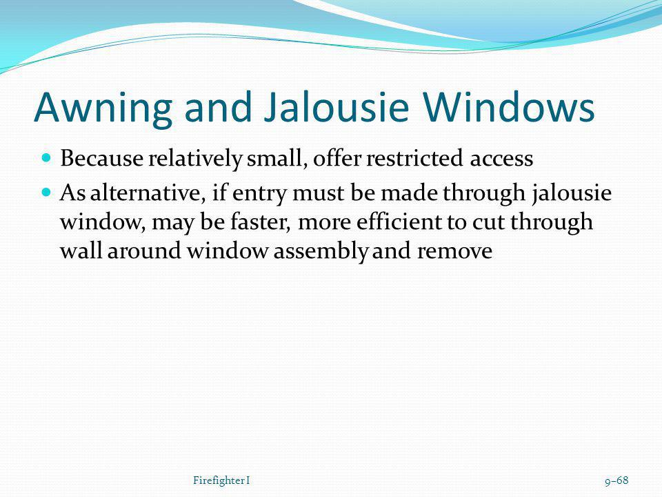Awning and Jalousie Windows