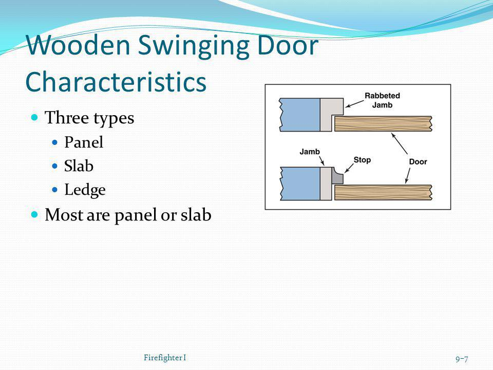 Wooden Swinging Door Characteristics