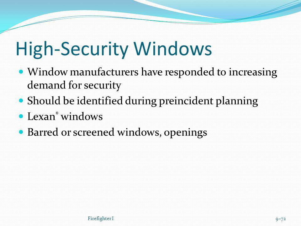 High-Security Windows