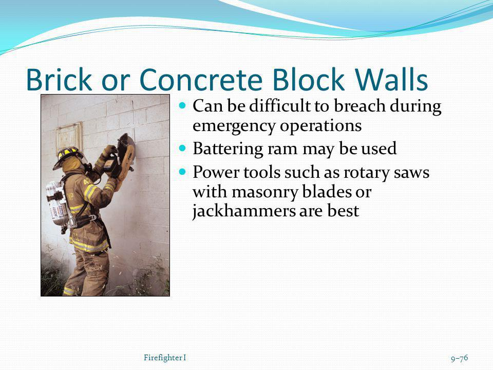 Brick or Concrete Block Walls